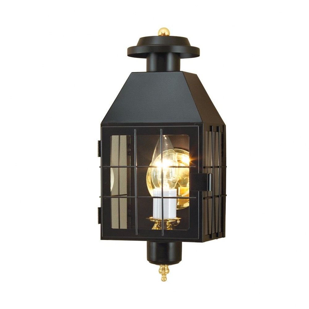 Norwell Lighting-1059-BL-CL-American Heritage - One Light Outdoor Wall Mount  Black Finish with Clear Glass