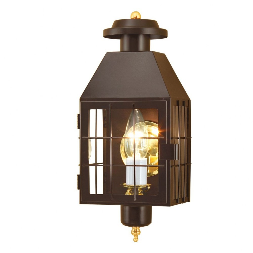 Norwell Lighting-1059-BR-CL-American Heritage - One Light Outdoor Wall Mount  Bronze Finish with Clear Glass