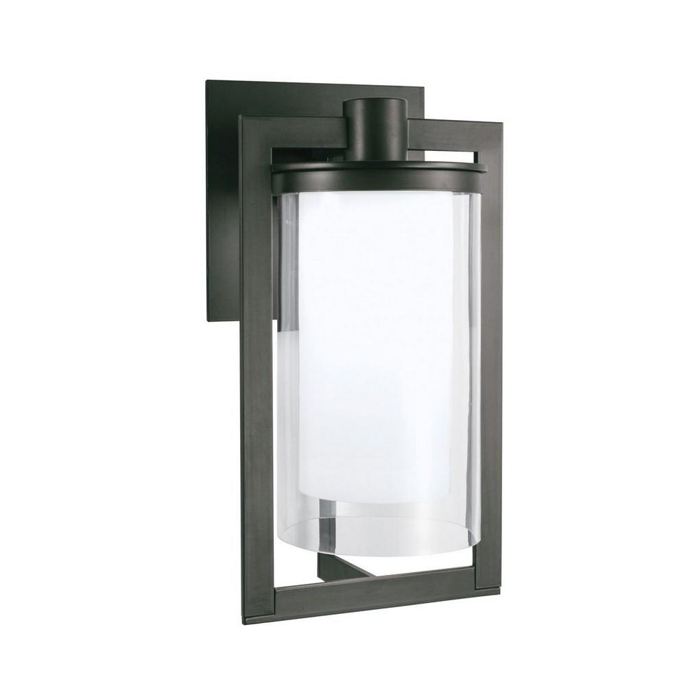 Norwell Lighting 1181 Br Cl North 16 88 1 Led Medium Outdoor Wall Lantern