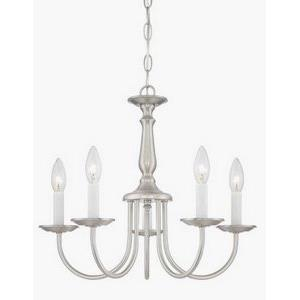 Five Light Chandelier with Candlesticks