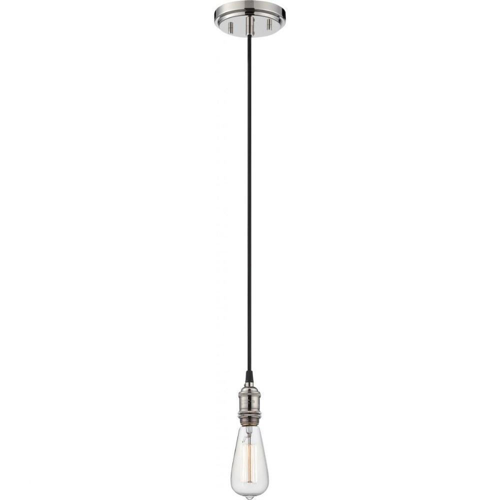 Nuvo Lighting-60/5405-Vintage - One Light Pendant  Polished Nickel Finish