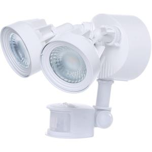"""9.25"""" 24W 2 LED Dual Head Outdoor Security Light with Motion Sensor"""