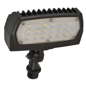 """5"""" 15W 3000K 1 LED Outdoor Adjustable Neck Flood Light"""