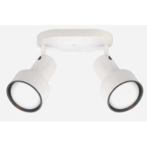 Two Light Step Cylinder Lamp