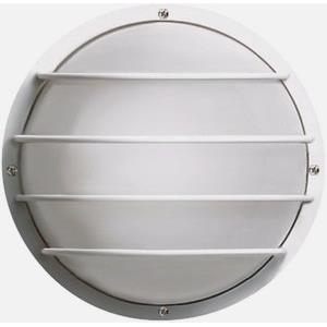 One Light Outdoor Round Cage Wall Mount with Polysynthetic Body and Lens
