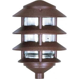 One Light Outdoor 3 Louver Pagoda Light with Small Hood