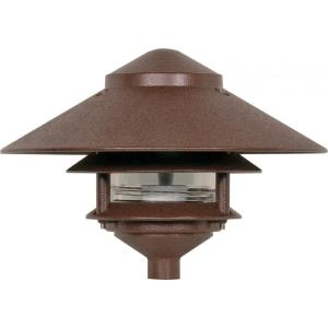 One Light Outdoor 2 Louver Pagoda Light with Large Hood