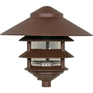 One Light Outdoor 3 Louver Pagoda Light with Large Hood