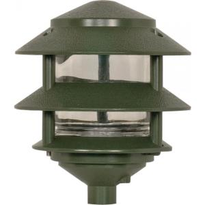 One Light Outdoor 2-Tier Path Light with Small Hood