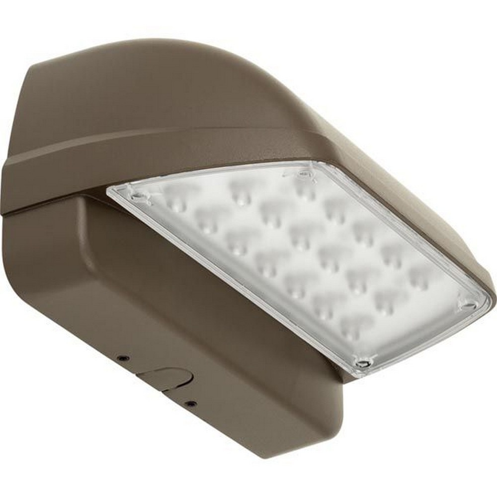 Progress Commercial Lighting-PCOWC-45LED-20-10.25 Inch 45W LED Horizontal Outdoor Wall Pack  Bronze Finish with Frosted Glass