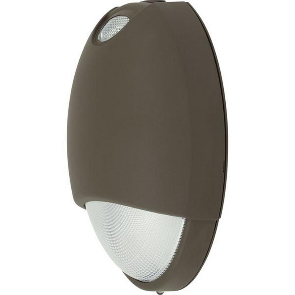 Progress Commercial Lighting-PEOEU-EM-20-10.47 Inch 8.89W LED Decorative AC/Emergency Light with Emergency Battery  Bronze Finish with Prismatic polycarbonate Glass