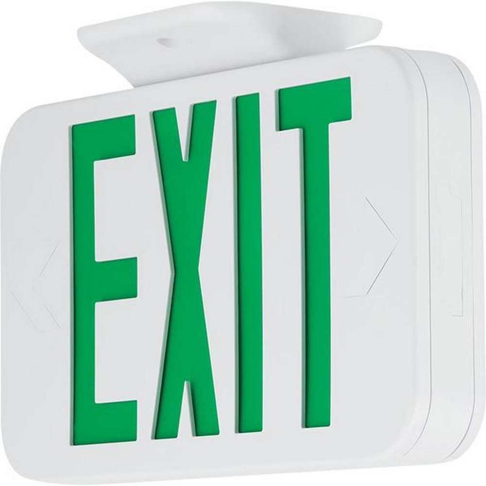 Progress Commercial Lighting-PETPE-UG-30-RC-11.6 Inch 3.81W LED Universal Emergency Exit Light with Remote  White/Green Finish