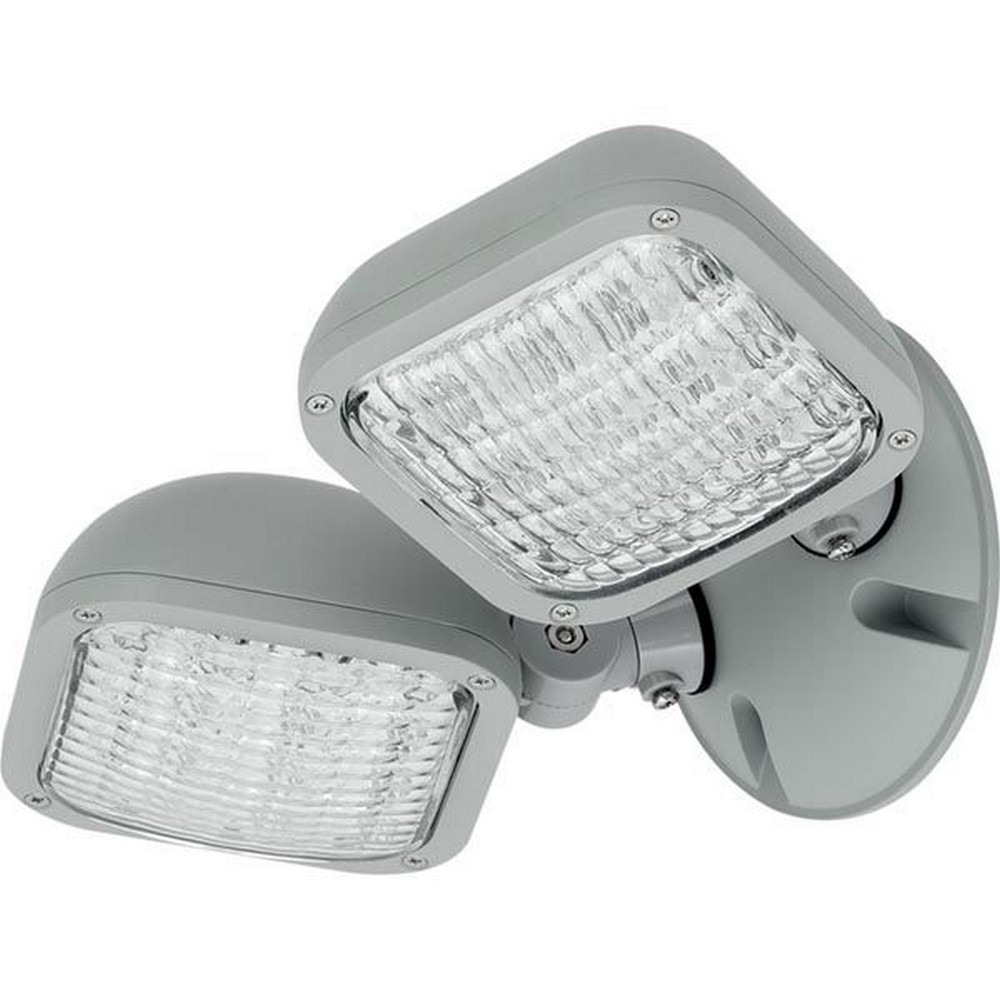 Progress Commercial Lighting-PEWLH-DB-82-10 Inch 2 LED Double Head Light with Remote  Metallic Gray Finish