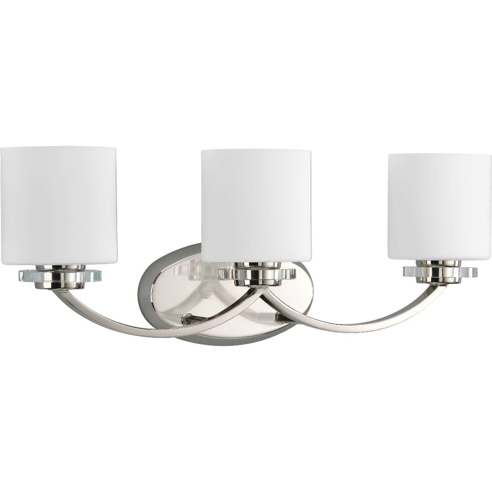 Progress Lighting-P2014-104-Nisse - 24 Inch Width - 3 Light - Line Voltage - Damp Rated  Polished Nickel Finish with Opal Etched Glass