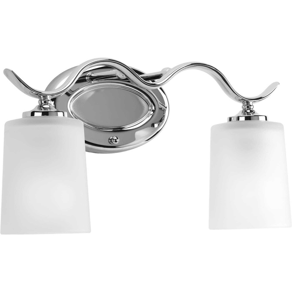 Progress Lighting-P2019-15-Inspire - 15 Inch Width - 2 Light - Line Voltage - Damp Rated  Chrome Finish with Etched Glass