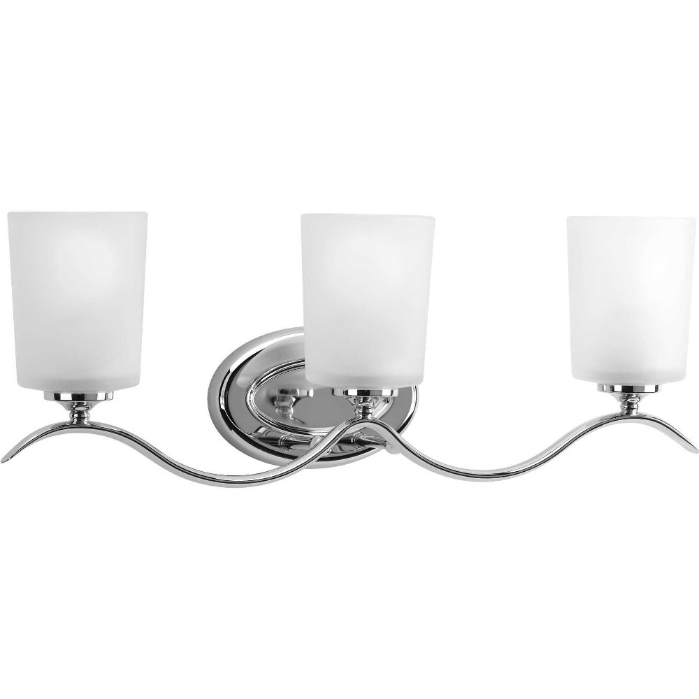 Progress Lighting-P2020-15-Inspire - 22.375 Inch Width - 3 Light - Line Voltage - Damp Rated  Chrome Finish with Etched Glass
