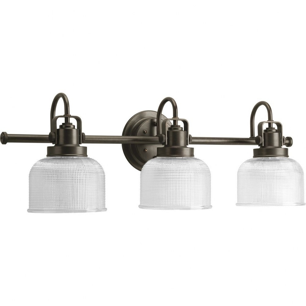 Progress Lighting-P2992-74-Archie - 26.25 Inch Width - 3 Light - Line Voltage - Damp Rated  Venetian Bronze Finish with Clear Prismatic Glass