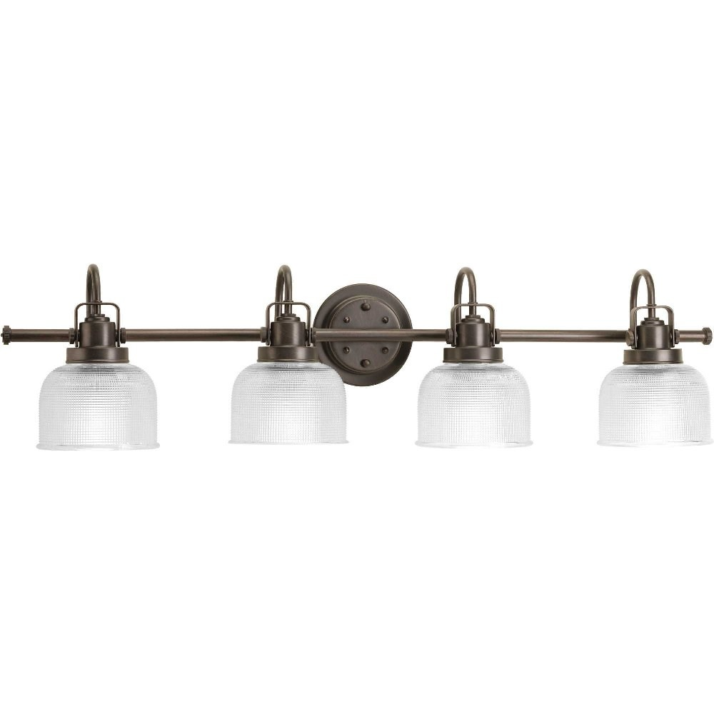Progress Lighting-P2997-74-Archie - 35.5 Inch Width - 4 Light - Line Voltage - Damp Rated  Venetian Bronze Finish with Clear Prismatic Glass