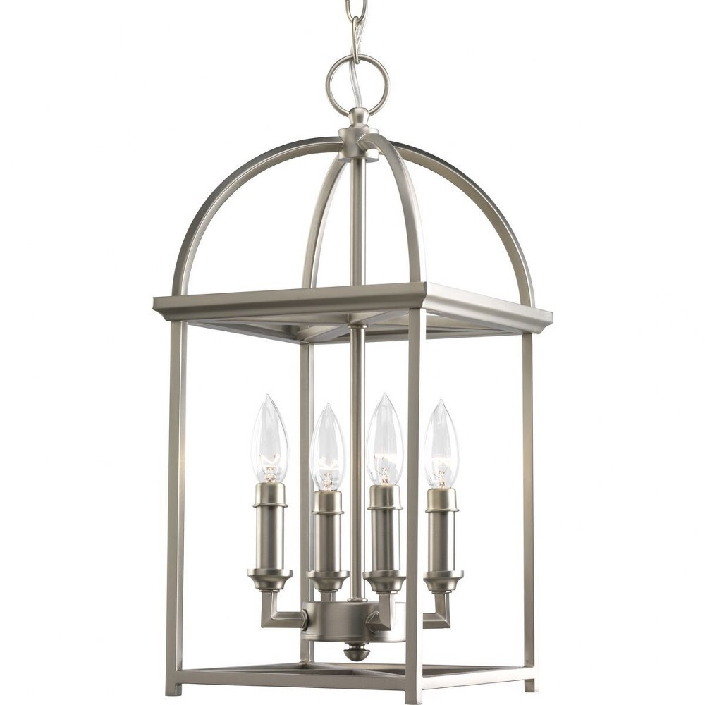 Progress Lighting-P3884-126-Piedmont - 9.4375 Inch Width - 4 Light - Line Voltage  Burnished Silver Finish with Etched White Glass
