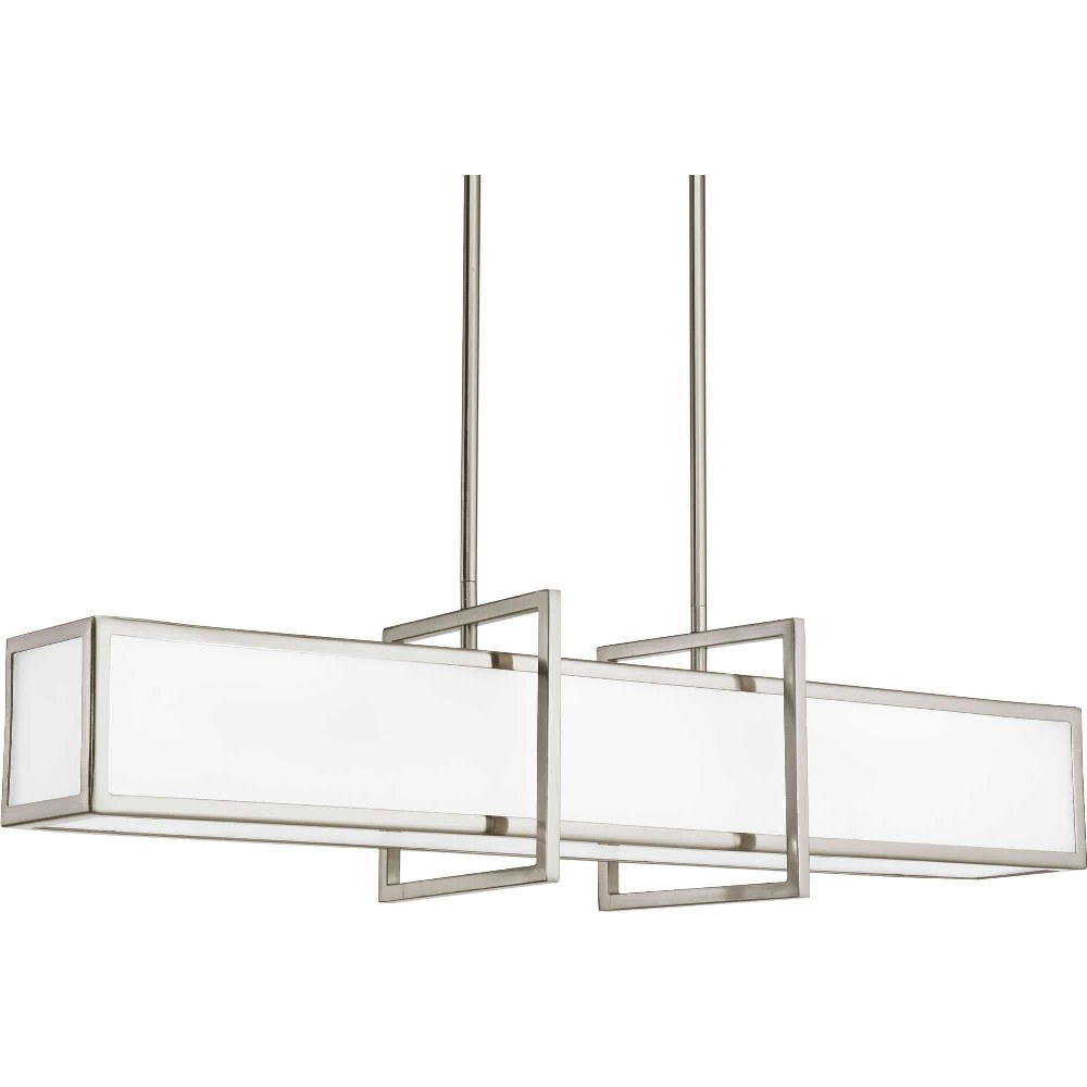 Progress Lighting-P3898-09-Haven - 8 Inch Width - 4 Light - Line Voltage  Brushed Nickel Finish with Etched Glass