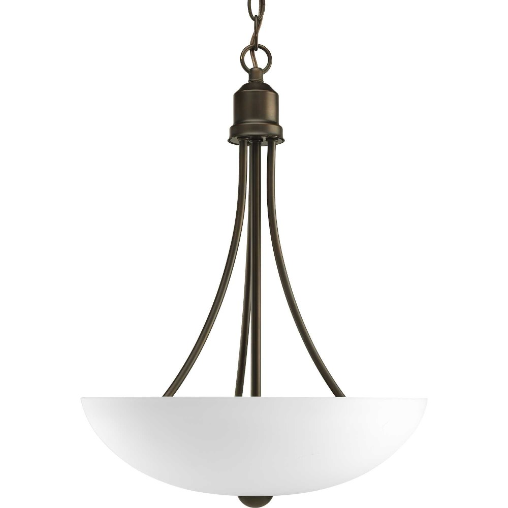 Progress Lighting-P3914-20-Gather - 15 Inch Width - 2 Light - Bowl Shade - Line Voltage  Antique Bronze Finish with Etched Glass