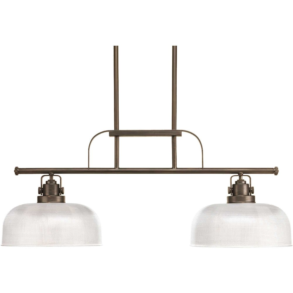 Progress Lighting-P4624-74-Archie - 12.75 Inch Height - Chandeliers Light - 2 Light - Line Voltage  Venetian Bronze Finish with Prismatic Glass