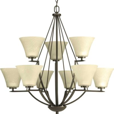 Progress Lighting P4625-20 Bravo - Nine Light 2-Tier Chandelier