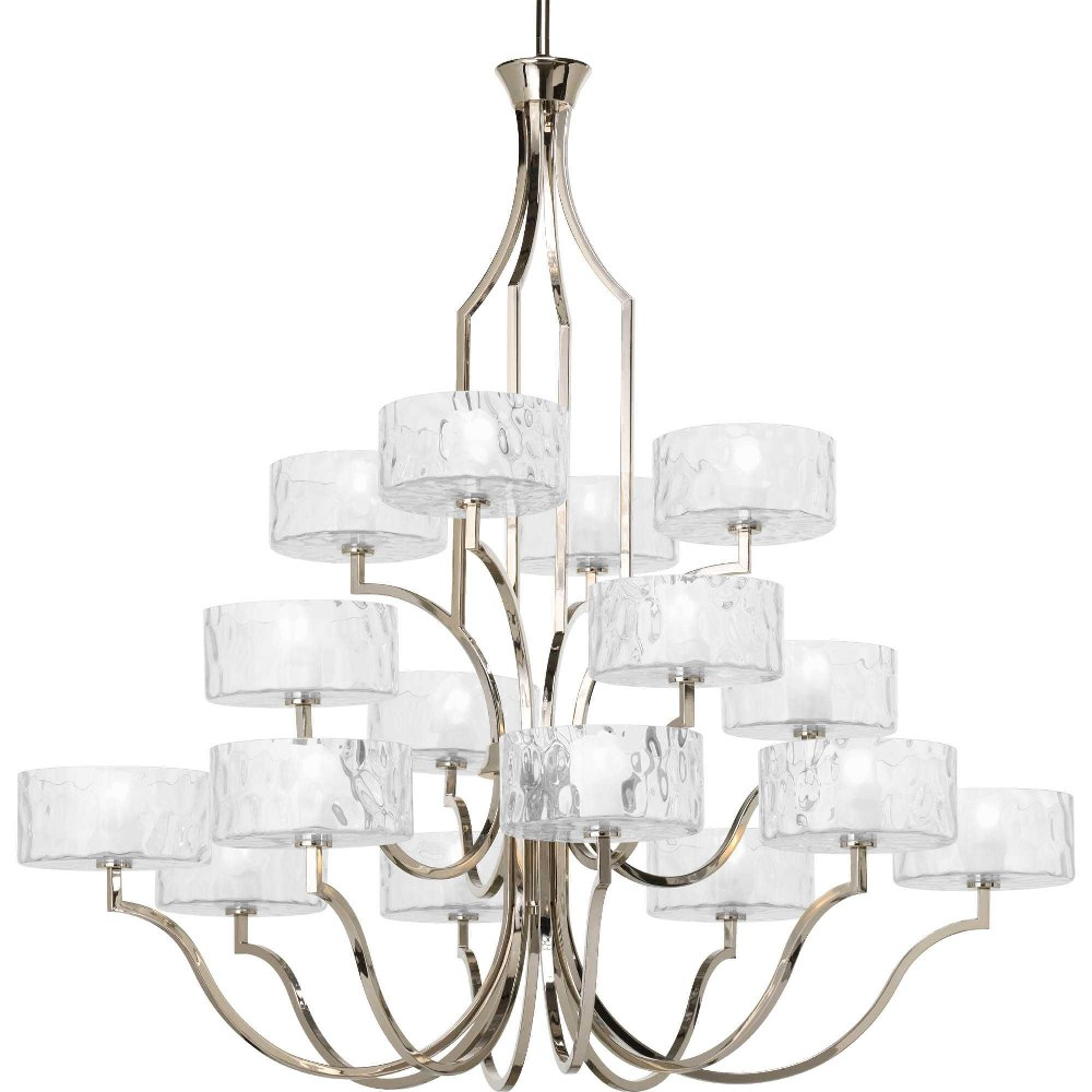 Progress Lighting-P4685-104WB-Caress - 46.1875 Inch Height - Chandeliers Light - 16 Light - Line Voltage  Polished Nickel Finish
