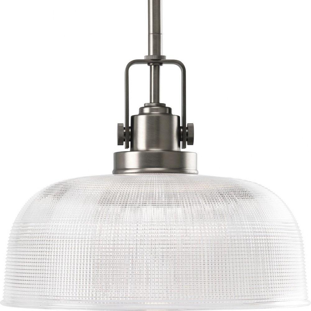Progress Lighting-P5026-81-Archie - 9.25 Inch Height - Pendants Light - 1 Light - Line Voltage  Antique Nickel Finish with Prismatic Glass