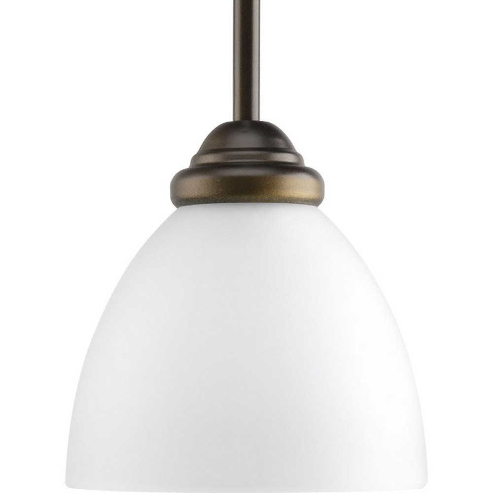 Progress Lighting-P5131-20-Heart - 6 Inch Height - Pendants Light - 1 Light - Line Voltage  Antique Bronze Finish with Etched Glass