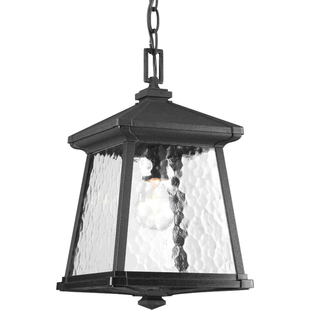 Progress Lighting-P5559-31-Mac - 14.875 Inch Height - Outdoor Light - 1 Light - Line Voltage - Damp Rated  Black Finish with Water Seeded Glass
