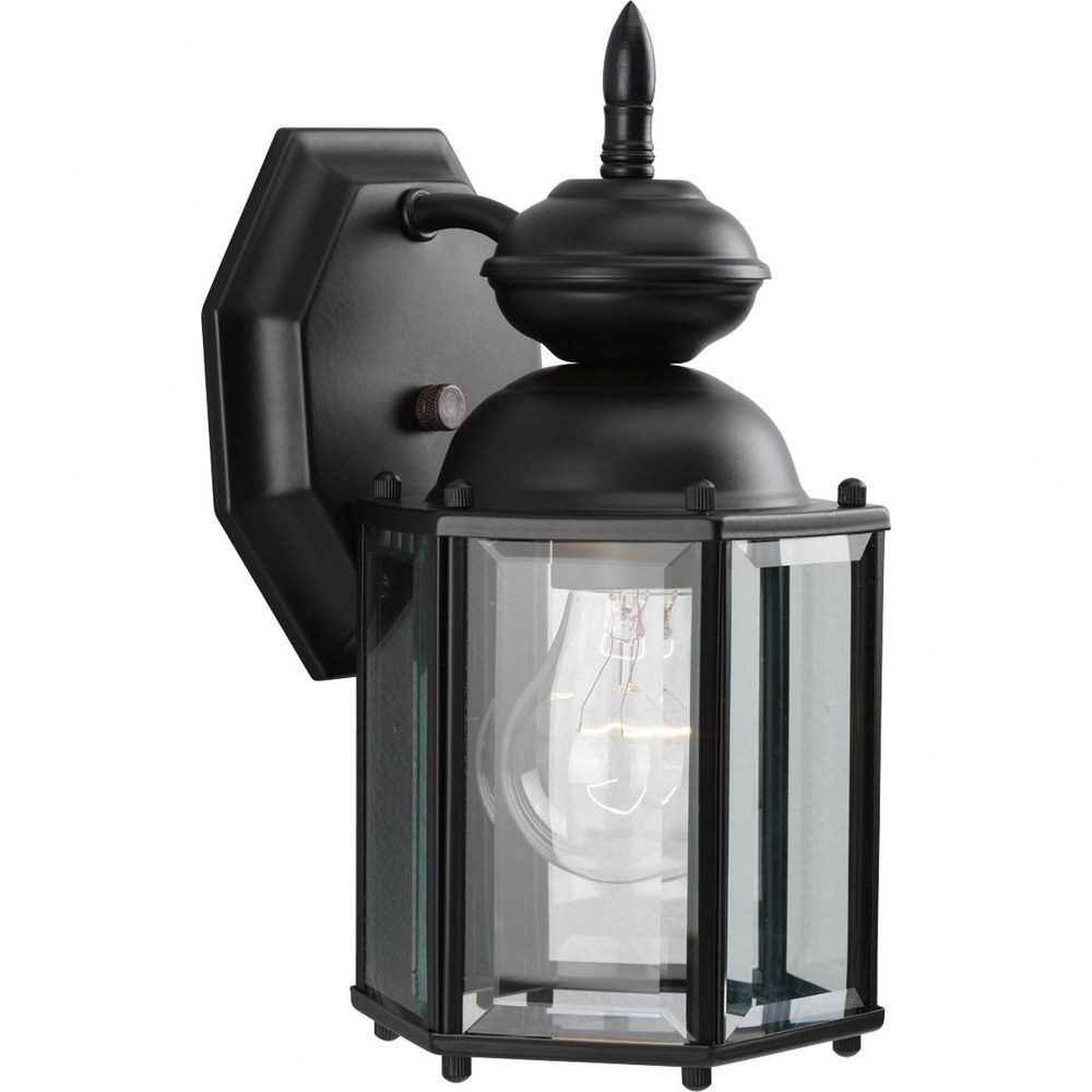 Progress Lighting-P5756-31-BrassGUARD Lantern - 10.25 Inch Height - Outdoor Light - 1 Light - Line Voltage - Wet Rated  Black Finish with Clear Beveled Glass