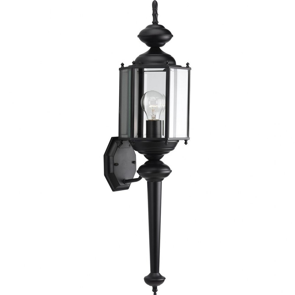 Progress Lighting-P5831-31-BrassGUARD Lantern - 28.5 Inch Height - Outdoor Light - 1 Light - Line Voltage - Wet Rated  Black Finish with Clear Beveled Glass