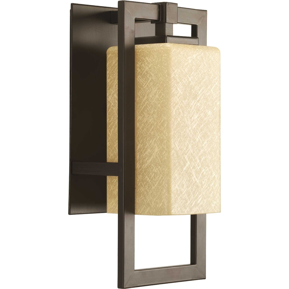 Progress Lighting-P5948-20-Jack - 13.625 Inch Height - Outdoor Light - 1 Light - Line Voltage - Wet Rated  Antique Bronze Finish with Etched Umber Flax Glass