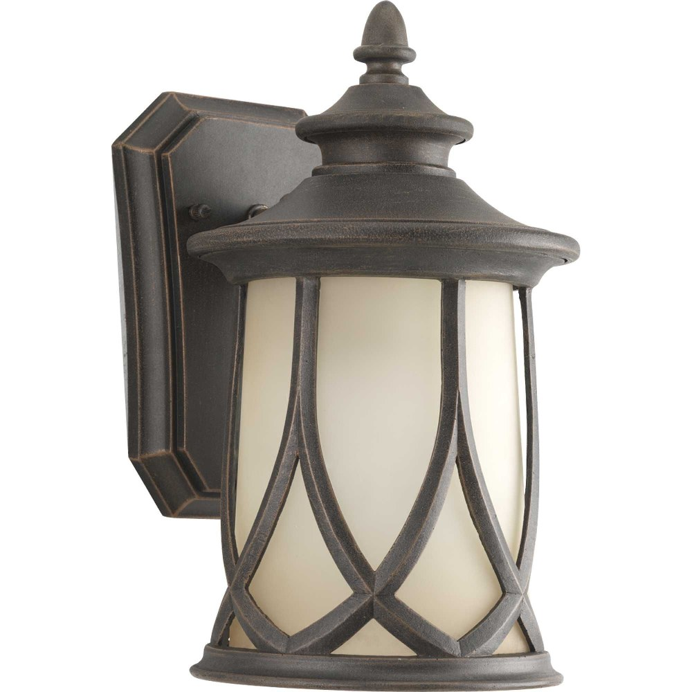 Progress Lighting-P5987-122-Resort - 10.875 Inch Height - Outdoor Light - 1 Light - Line Voltage - Wet Rated  Aged Copper Finish with Gradual Umber Glass