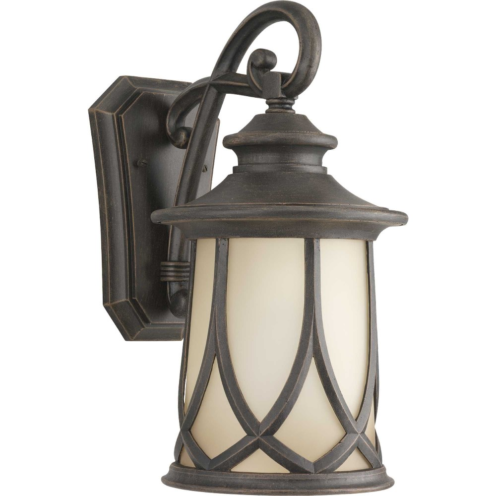 Progress Lighting-P5988-122-Resort - 15.875 Inch Height - Outdoor Light - 1 Light - Line Voltage - Wet Rated  Aged Copper Finish with Gradual Umber Glass