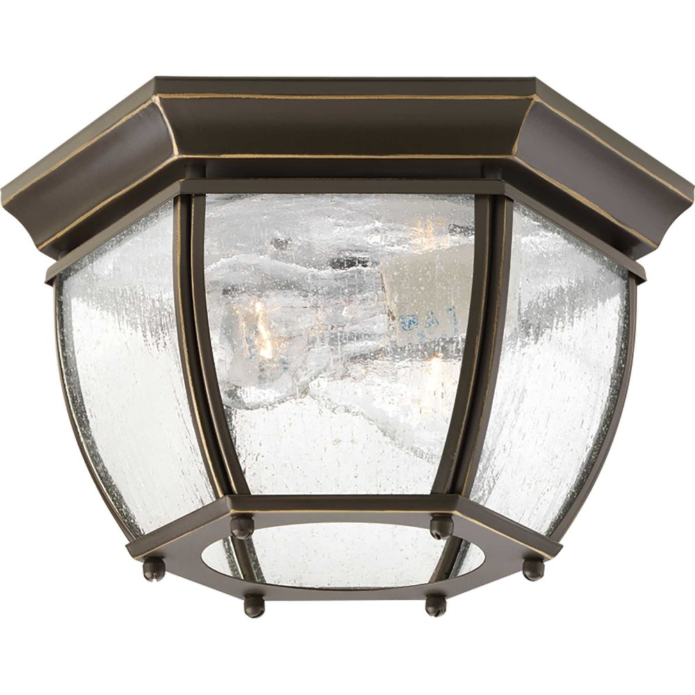 Progress Lighting-P6019-20-Roman Coach - 6.1875 Inch Height - Outdoor Light - 2 Light - Curved Panels Shade - Line Voltage - Damp Rated  Antique Bronze Finish