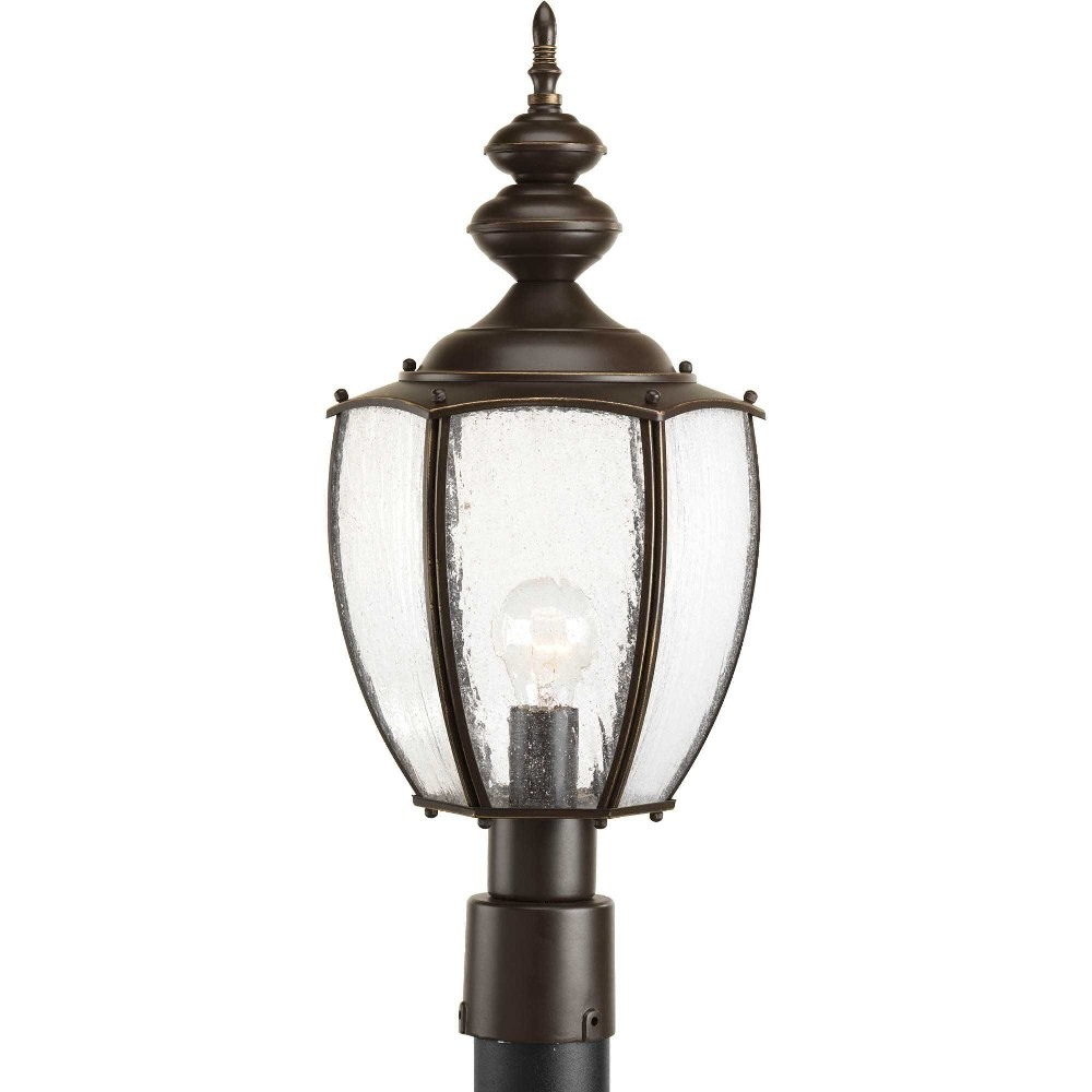 Progress Lighting-P6417-20-Roman Coach - 22.625 Inch Height - Outdoor Light - 1 Light - Curved Panels Shade - Line Voltage - Wet Rated  Antique Bronze Finish