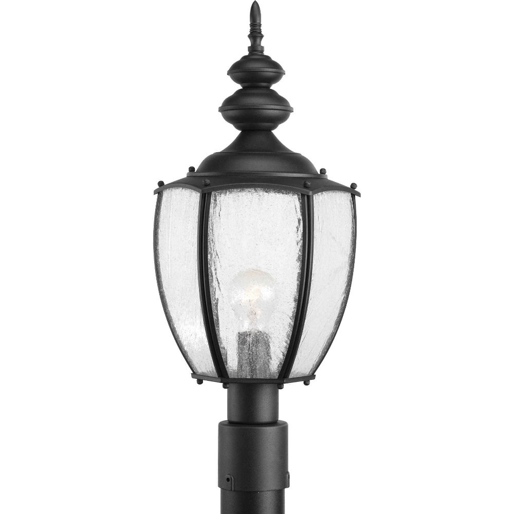 Progress Lighting-P6417-31-Roman Coach - 22.625 Inch Height - Outdoor Light - 1 Light - Curved Panels Shade - Line Voltage - Wet Rated  Black Finish