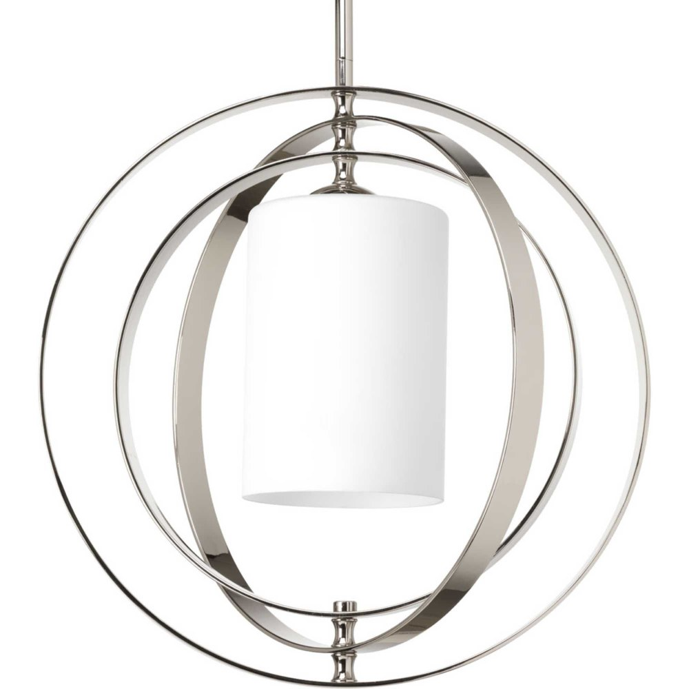 Progress Lighting-P7078-104-Equinox - 16 Inch Width - 1 Light - Line Voltage  Polished Nickel Finish with Etched Opal Glass