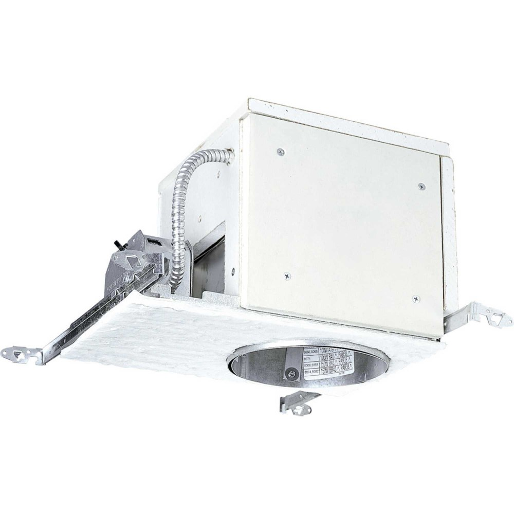 Progress Lighting-P821-FBLED-Recessed Housing - 12.375 Inch Width - Line Voltage - Damp Rated  White Finish