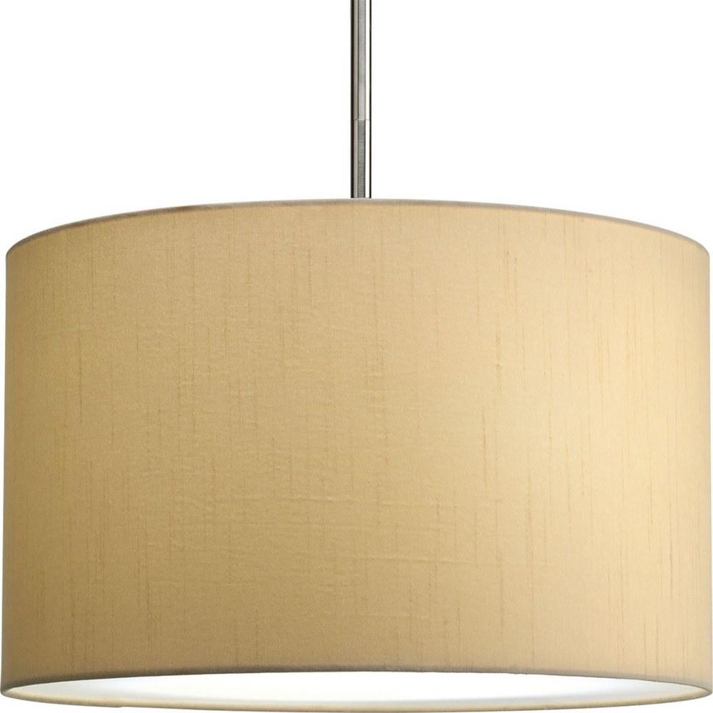 Progress Lighting-P8823-01-Markor - 10 Inch Height - Pendants Light  Beige Silken Fabric Finish
