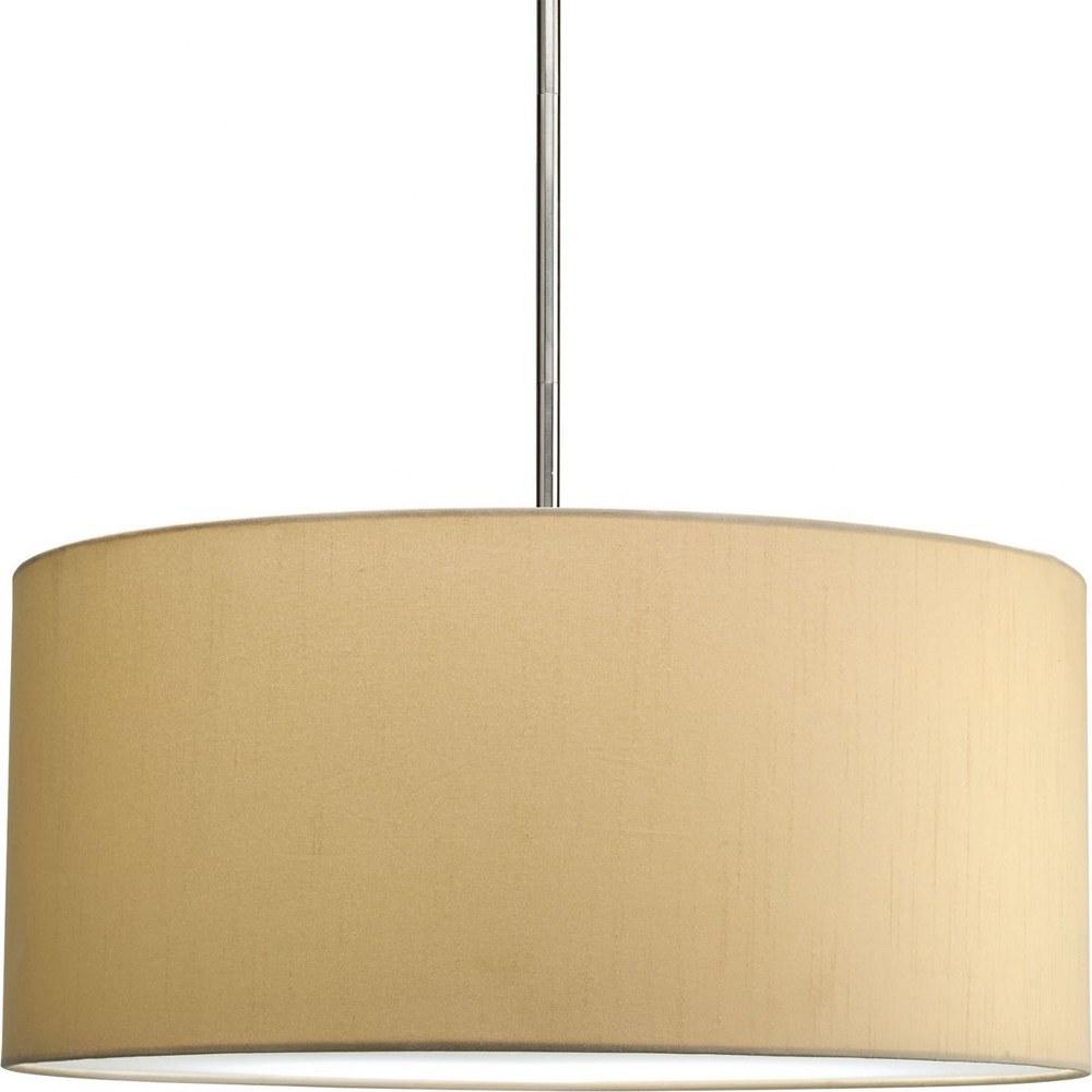 Progress Lighting-P8825-01-Markor - 10 Inch Height - Pendants Light  Beige Silken Fabric Finish