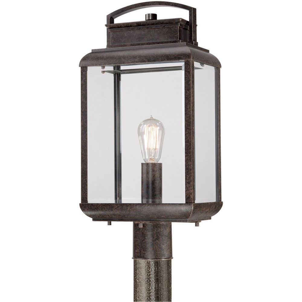 Quoizel Lighting-BRN9010IB-Byron - 1 Light Post  Imperial Bronze Finish with Clear Beveled Glass