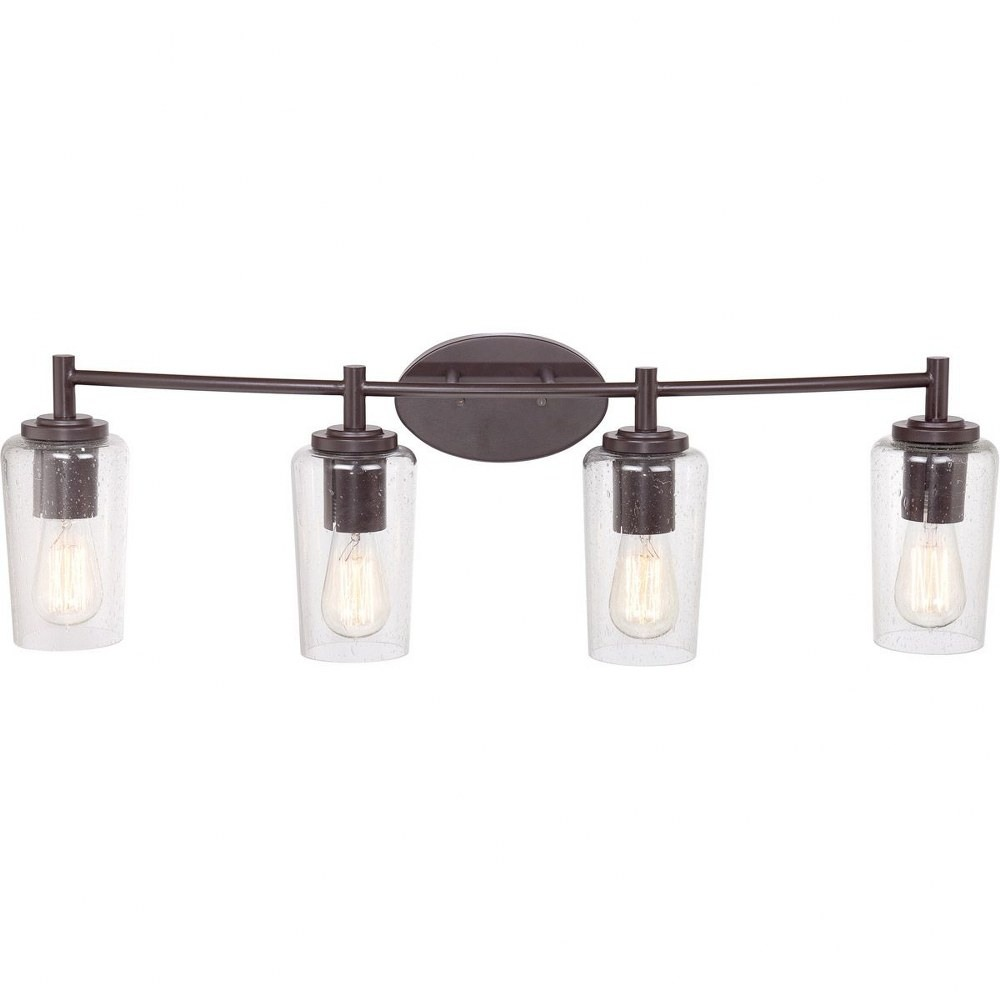 Quoizel Lighting-EDS8604WT-Edison - 4 Light Bath Bar  Western Bronze Finish