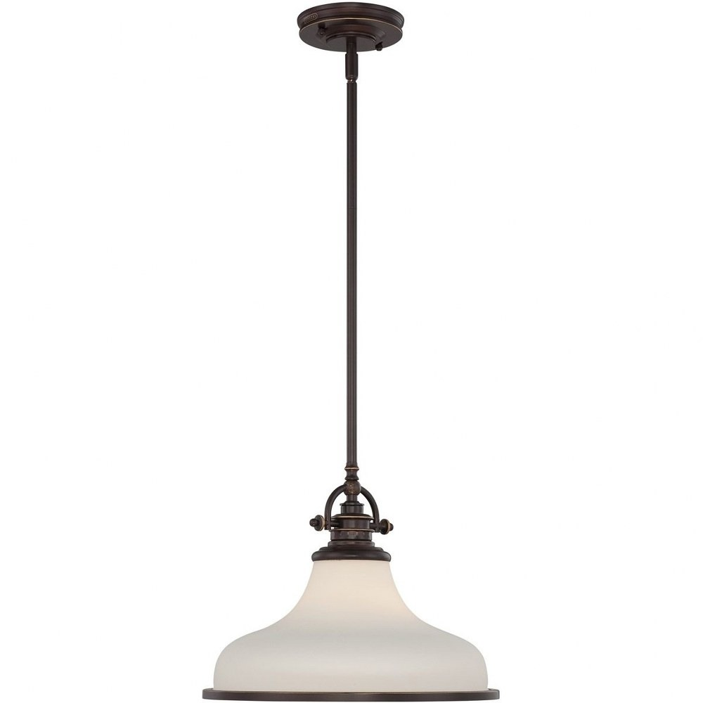 Quoizel Lighting-GRT2814PN-Grant - 1 Light Pendant  Palladian Bronze Finish