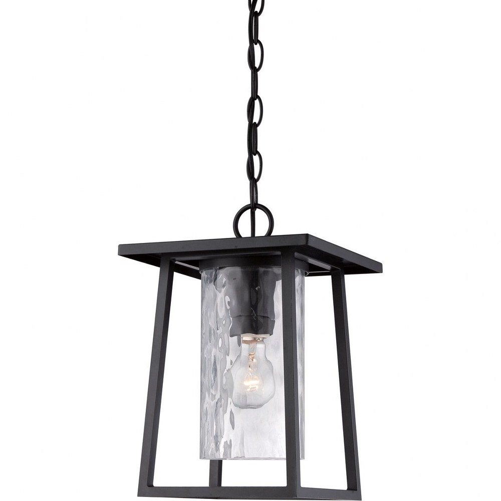 Quoizel Lighting-LDG1909K-Lodge - 1 Light Outdoor Hanging Lantern  Mystic Black Finish