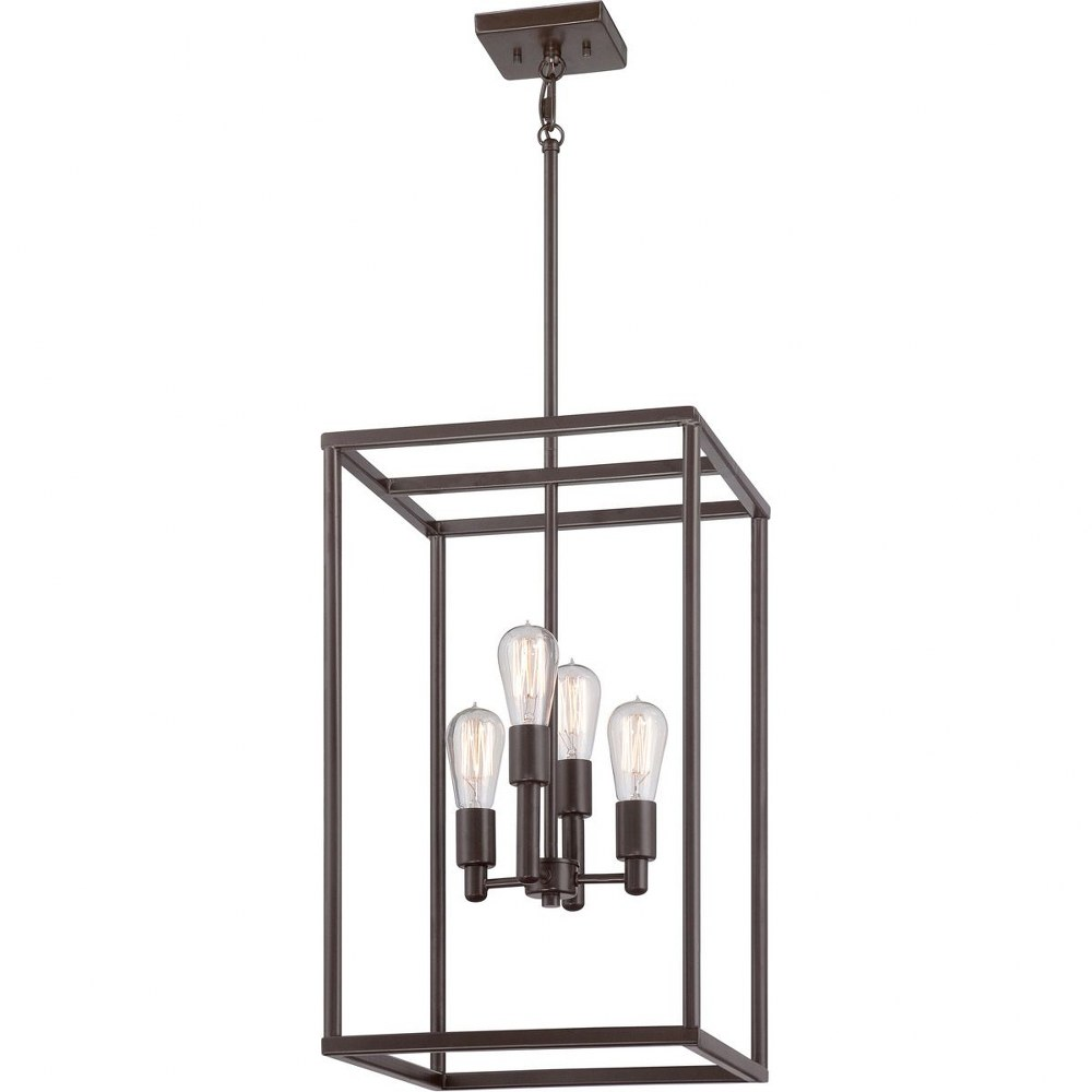 Quoizel Lighting-NHR5204WT-New Harbor Chandelier 4 Light  Steel  Western Bronze Finish
