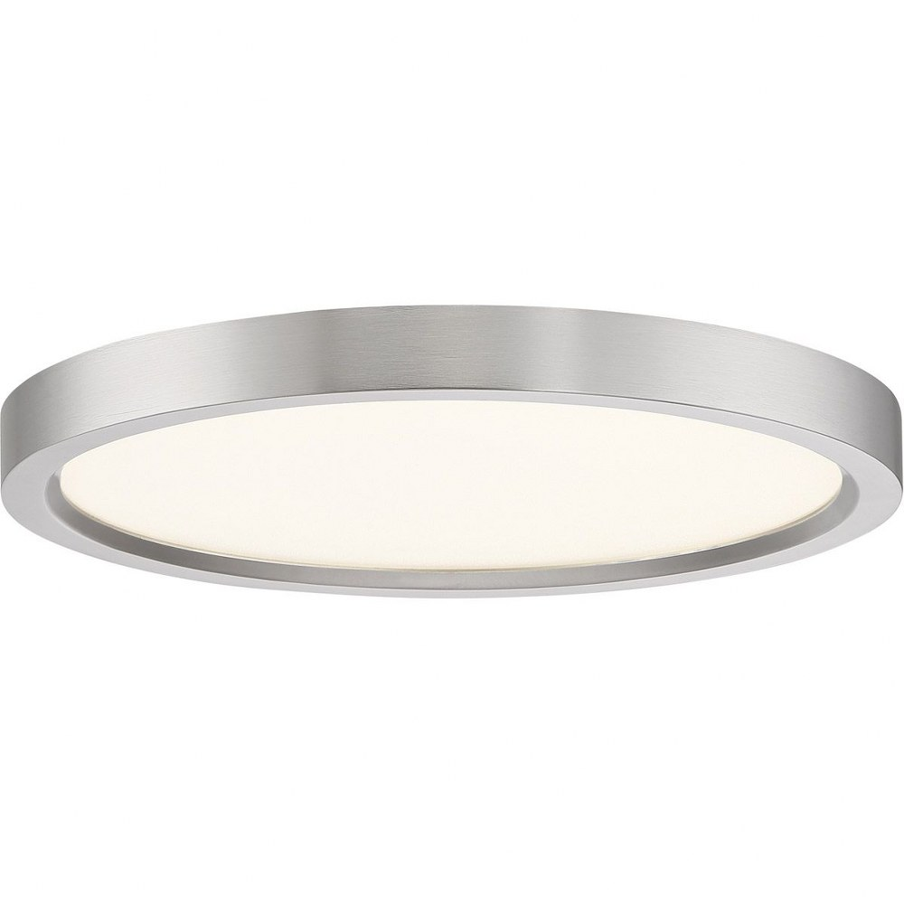 """Quoizel OST1715 Outskirt 15/""""W LED Flush Mount Ceiling Fixture w//an Acrylic Shade"""