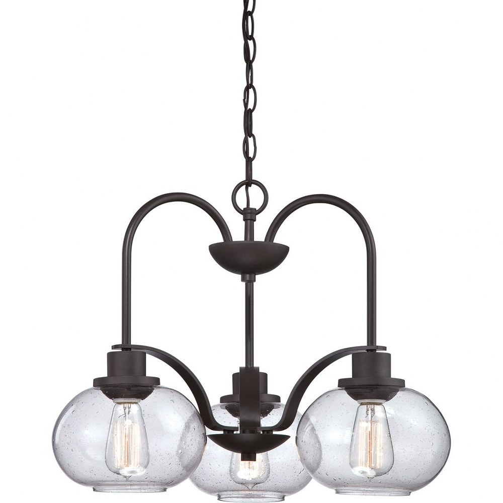 Quoizel Lighting-TRG5103OZ-Trilogy Chandelier 3 Light  Steel  Old Bronze Finish